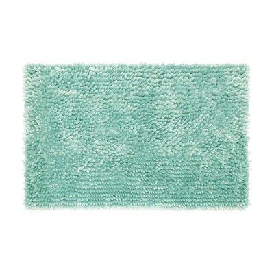 Abbie Chenille Bath Rug Color: Aqua, Size: 21 W x 34 L