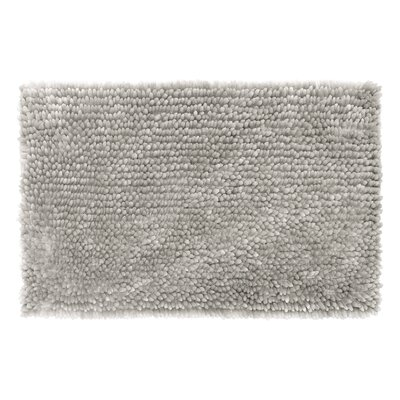 Abbie Chenille Bath Rug Color: Light Gray, Size: 27 W x 45 L