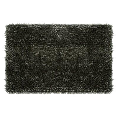 Abbie Chenille Bath Rug Color: Charcoal, Size: 27 W x 45 L