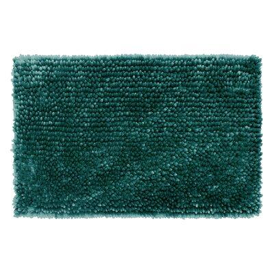 Abbie Chenille Bath Rug Color: Harbor Teal, Size: 27 W x 45 L