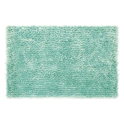 Abbie Chenille Bath Rug Size: 17 W x 24 L, Color: Aqua