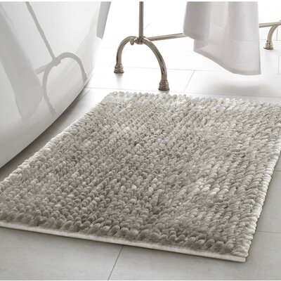 Abdul Chenille Bath Rug Color: Light Gray