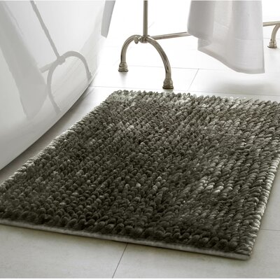 Abdul Chenille Bath Rug Color: Charcoal