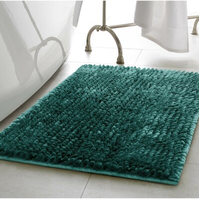 Abdul Chenille Bath Rug Color: Harbor Teal