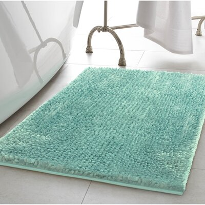 Abdul Chenille Bath Rug Color: Aqua