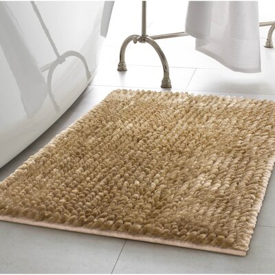 Abdul Chenille Bath Rug Color: Linen