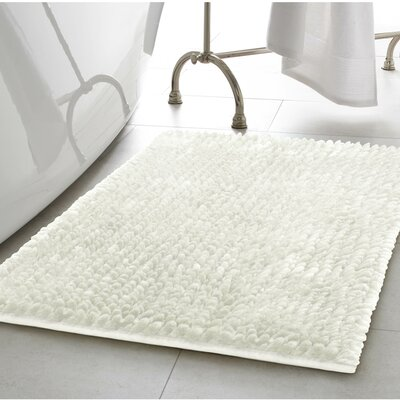 Abdul Chenille Bath Rug Color: White