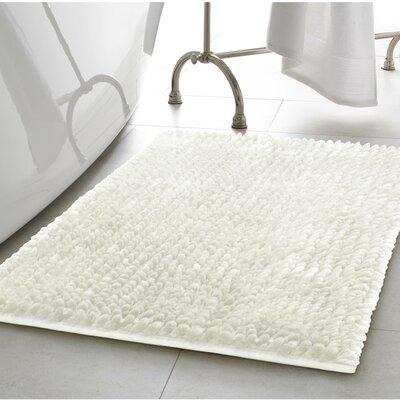 Abdul Chenille Bath Rug Color: White