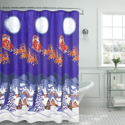Santa Textured Shower Curtain