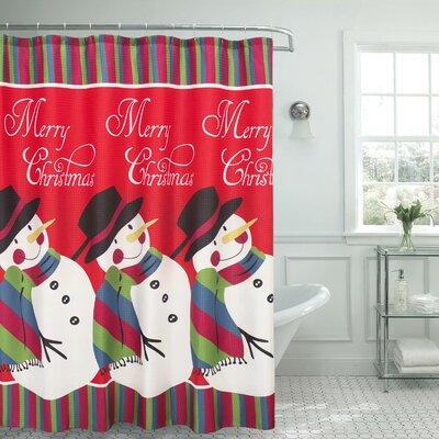 Snowman Surprise Textured Shower Curtain