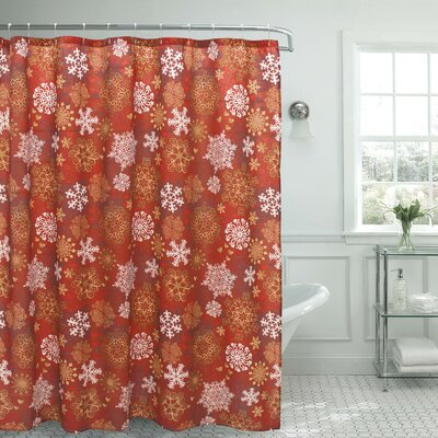 Snowflakes Christmas Shower Curtain