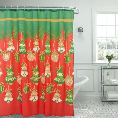 Holly Jolly Christmas Shower Curtain