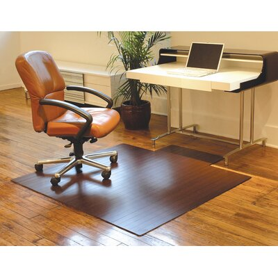 "Anji Mountain Bamboo Standard Hard Floor Rounded Edge Chair Mat - Size: 55"" x 57"", Color: Dark Cherry at Sears.com"
