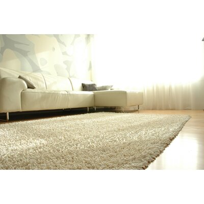 Lynde Shag Ivory Area Rug Rug Size: Rectangle 4 x 6