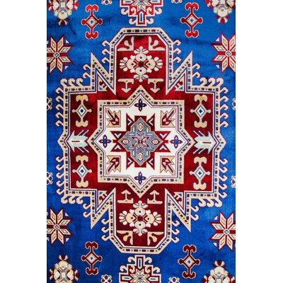 Rathore Medallion Blue/Beige Area Rug Rug Size: 5 x 7