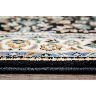 Assante Black/Cream Area Rug Rug Size: 5 x 7