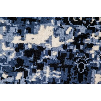 Loch Lomond Overdyed Distressed Black/Gray Area Rug Rug Size: 5 x 7