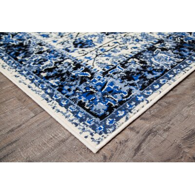 Royalwood Traditional Gray/White Area Rug Rug Size: 8 x 10