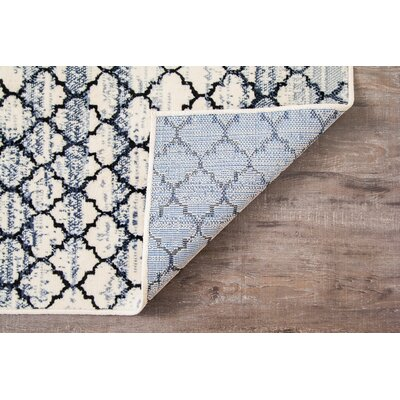 Macclenny Lattice Abrash Black/Ivory Area Rug Rug Size: 5' x 7'