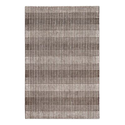 Tufted Hand-Woven Wool Brown Area Rug Rug Size: Rectangle 8 x 10