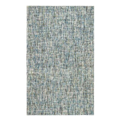 Flatweave Hand-Woven Blue/Gray Area Rug Rug Size: Rectangle 8 x 10