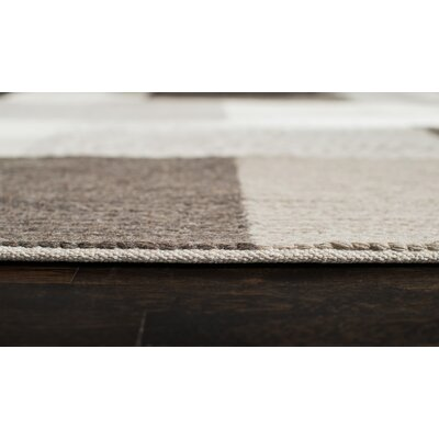 Tiled Hand-Woven Brown Area Rug Rug Size: Rectangle 9 x 12
