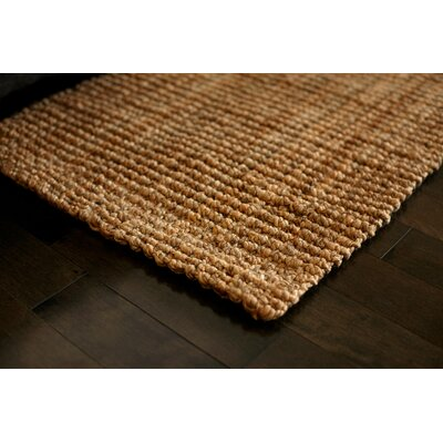 Hand-Woven Brown Area Rug Rug Size: Rectangle 26 x 6