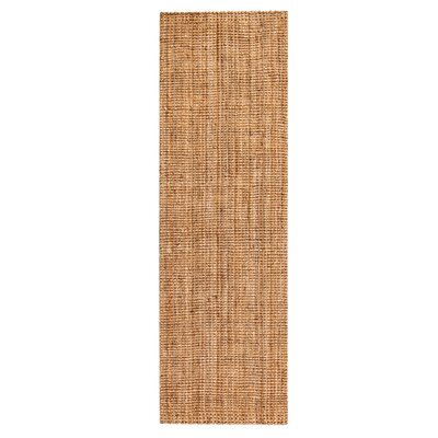 Hand-Woven Brown Area Rug Rug Size: Runner 26 x 12