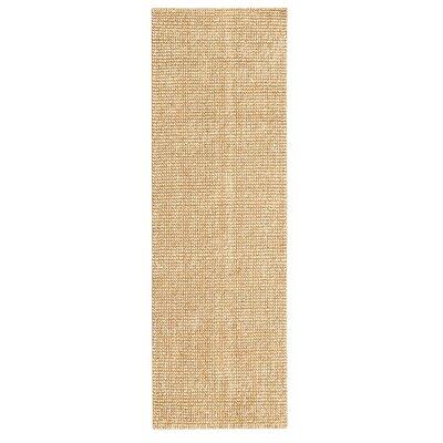 Hand-Woven Beige Area Rug Rug Size: Runner 26 x 12