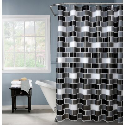 PEVA Brick Design Shower Curtain Set