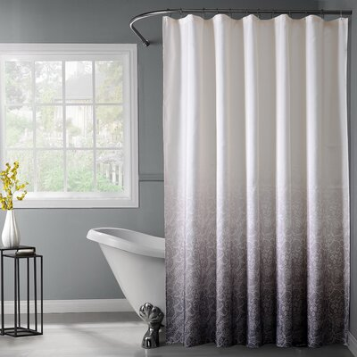 Lace Printed Ombre Shower Curtain Color: Black