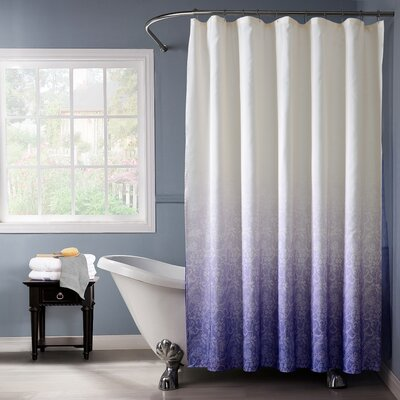 Lace Printed Ombre Shower Curtain Color: Purple
