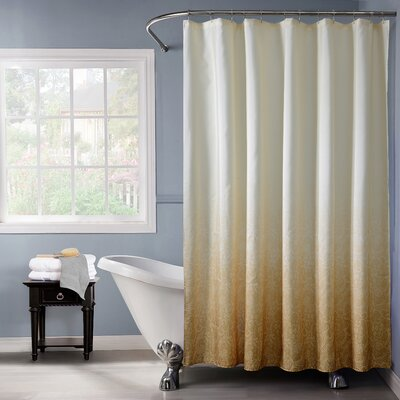 Lace Printed Ombre Shower Curtain Color: Gold