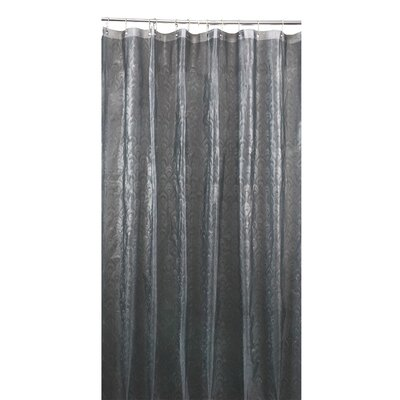 EVA 3D Peacock Design Shower Curtain Color: Grey