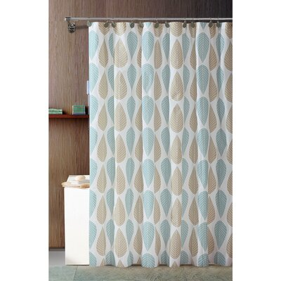 Belville PEVA Leaf Design Shower Curtain