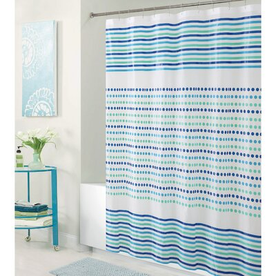 PEVA Dot and Stripe Design Shower Curtain