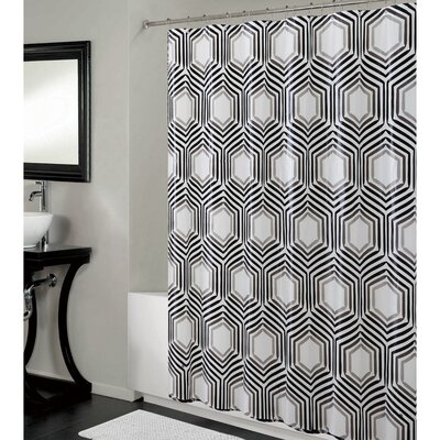 PEVA Hexagon Design Shower Curtain
