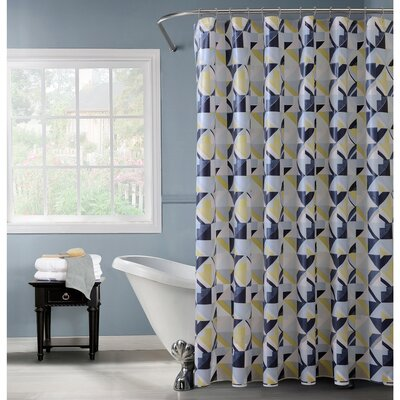 PEVA Geometric Design Shower Curtain