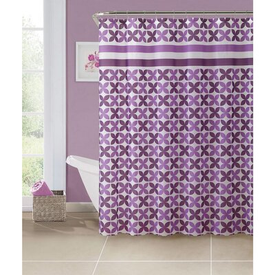 PEVA Pinwheel Design Shower Curtain