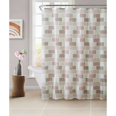 PEVA Tile Design Shower Curtain Set