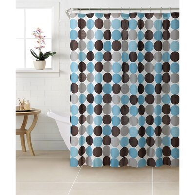 PEVA Circles Design Shower Curtain Set