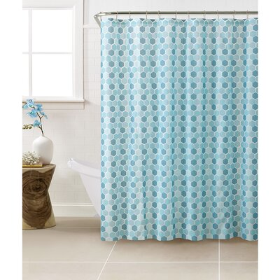 PEVA Hexagon Design Shower Curtain Set