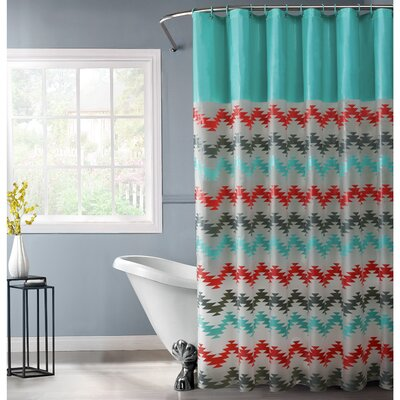 PEVA Chevron Design Shower Curtain Set