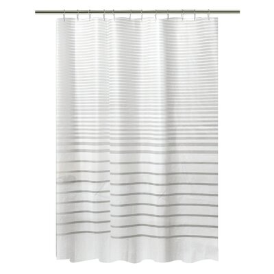 PEVA Stripe Design Shower Curtain Set
