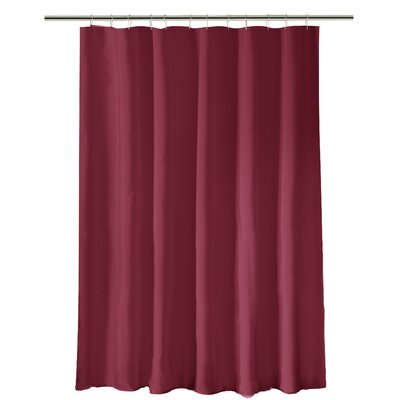 Mann Heavy Weight Shower Liner Color: Burgundy