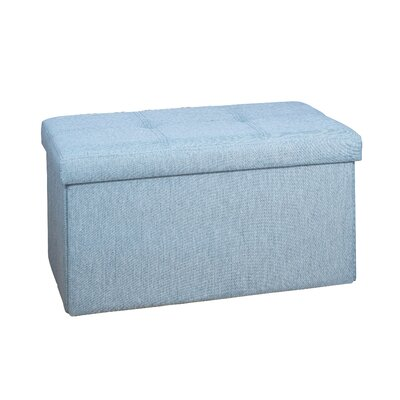 Lindsey Double Folding Storage Ottoman Upholstery: Seafoam