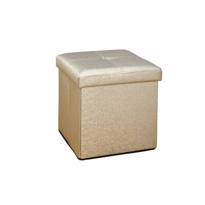 Lindsey Cube Storage Ottoman Upholstery: Gold