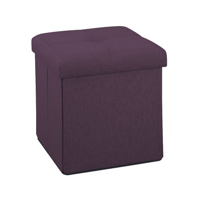Lindsey Folding Burgundy Storage Ottoman