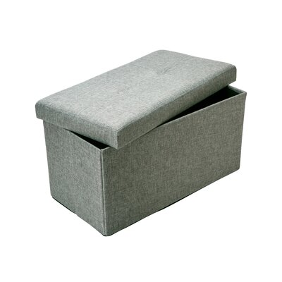 Kestner Double Folding Storage Ottoman Upholstery: Gray