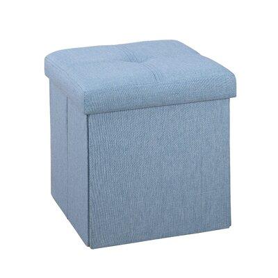 Tindall Folding Storage Ottoman Upholstery: Seafoam